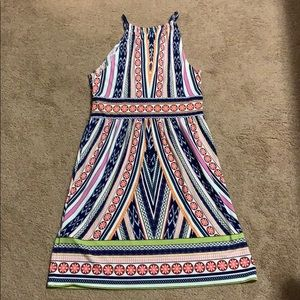Strap halter dress colorful size 8
